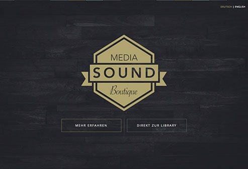 'Media Sound Boutique' Webseite